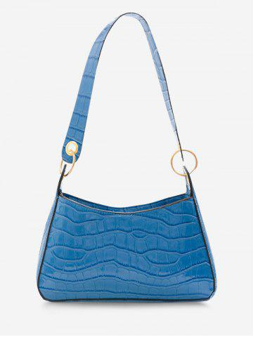 Brief O Rings Textured Shoulder Bag