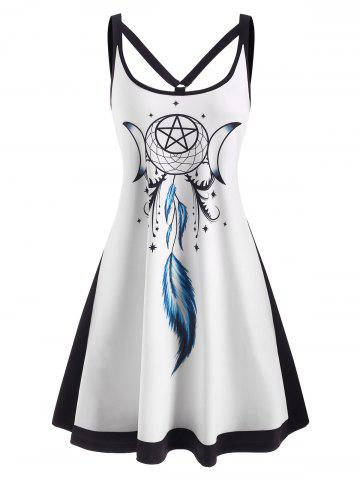 Dreamcatcher Print Strappy O Ring Tank Dress