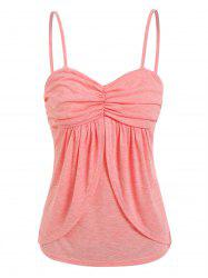 Ruched Overlap Cami Top -