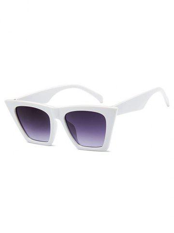 Square Frame Tip Gradient Sunglasses
