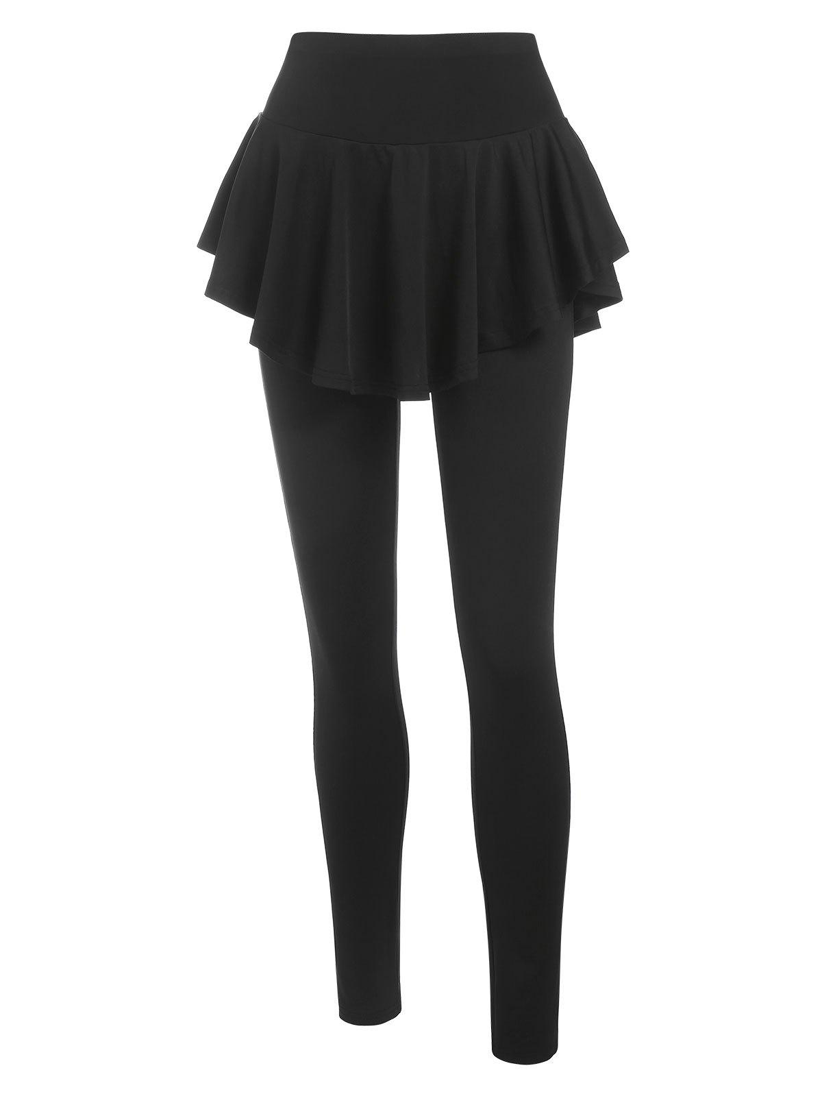 Unique Skinny High Waisted Skirted Pants