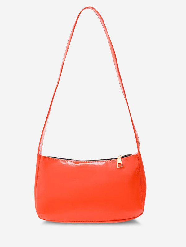 Outfits Faux Patent Leather Shoulder Bag