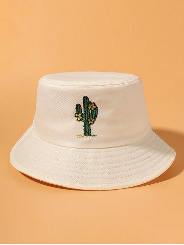 Cactus Embroidered Casual Bucket Hat