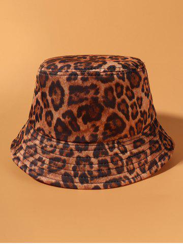 Leopard Printed Casual Bucket Hat