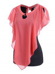 Two Tone O Ring Tie Back Top -