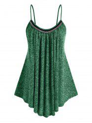 Plus Size Chains Heathered Swing Tank Top -