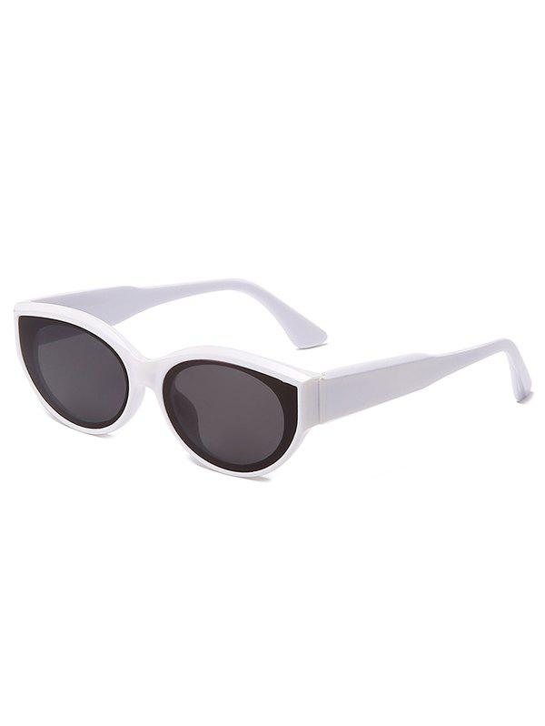 Online Oval Frame Wide Temple Sunglasses