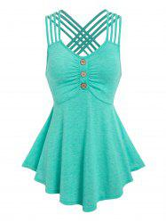 Strappy Crisscross Ruched Tank Top -