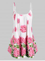 Pleated Flowers Print Cami Top -