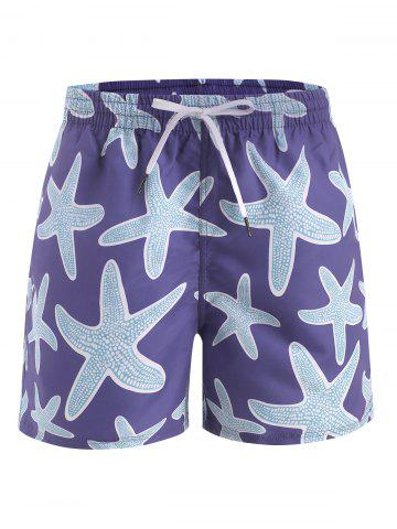 Starfish Print Beach Shorts