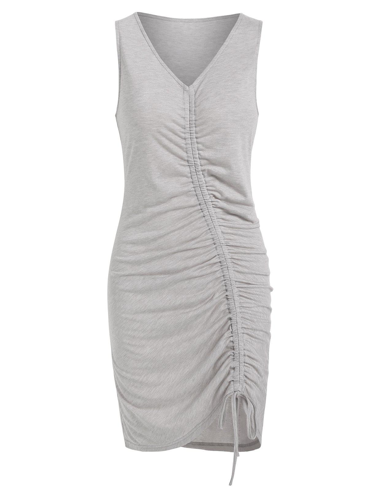 Affordable Cinched Asymmetrical Tank Dress