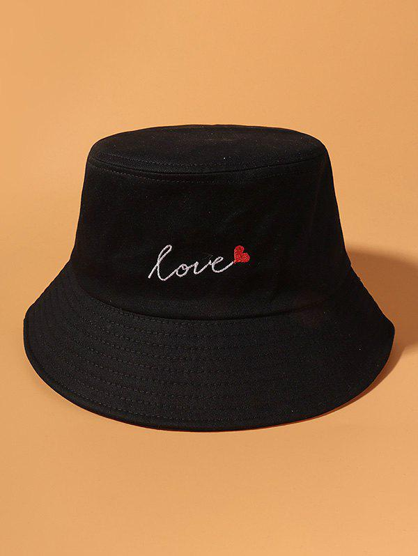 Trendy Letter Heart Embroidered Bucket Hat