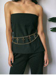 Hollow Out Cross Layered Belly Chain -