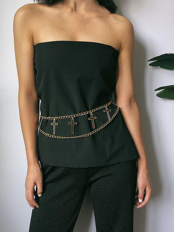 Affordable Hollow Out Cross Layered Belly Chain