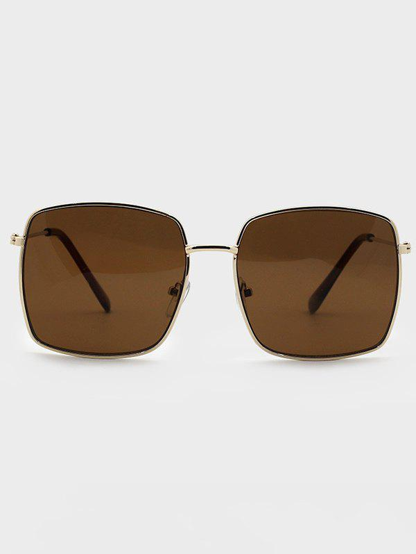 Outfits Square Frame Gold-Tone Metal Sunglasses
