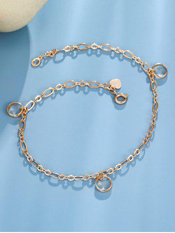 Heart Ring Charm Chain Anklet