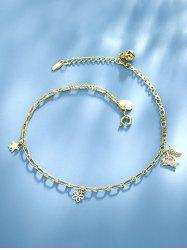 Butterfly Flower Star Charm Anklet -