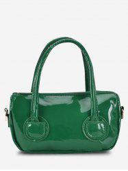 Faux Patent Leather Dual Handle Crossbody Bag -