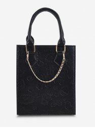 Embossed Chain Double Handle Tote Bag -