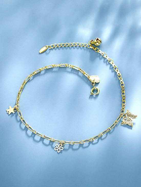 Fashion Butterfly Flower Star Charm Anklet