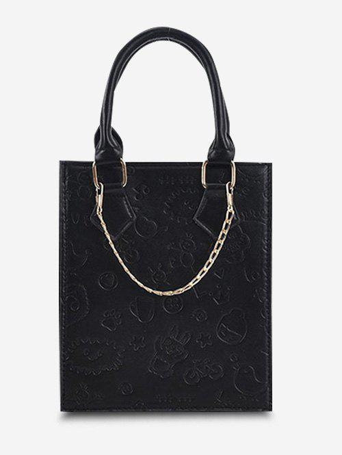 Discount Embossed Chain Double Handle Tote Bag