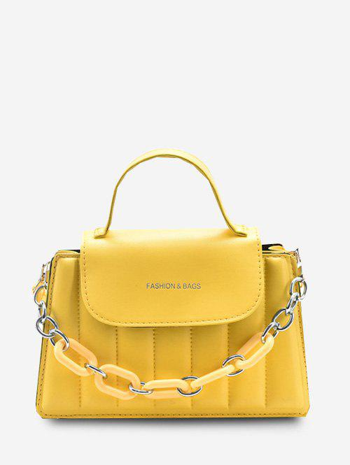 Outfit Puffy Chunky Chain Flap Crossbody Bag