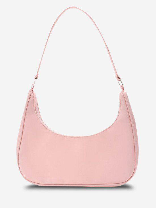 Cheap Minimalistic Solid Curved Shoulder Bag