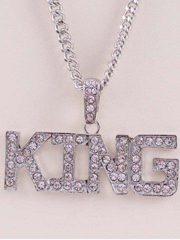 Letters Rhinestone Hip Hop Necklace
