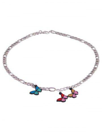 Butterfly Chain Charm Necklace
