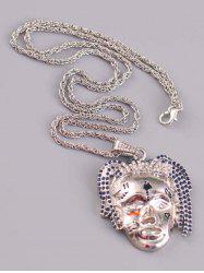 Personalized Face Rhinestone Hip Hop Necklace -