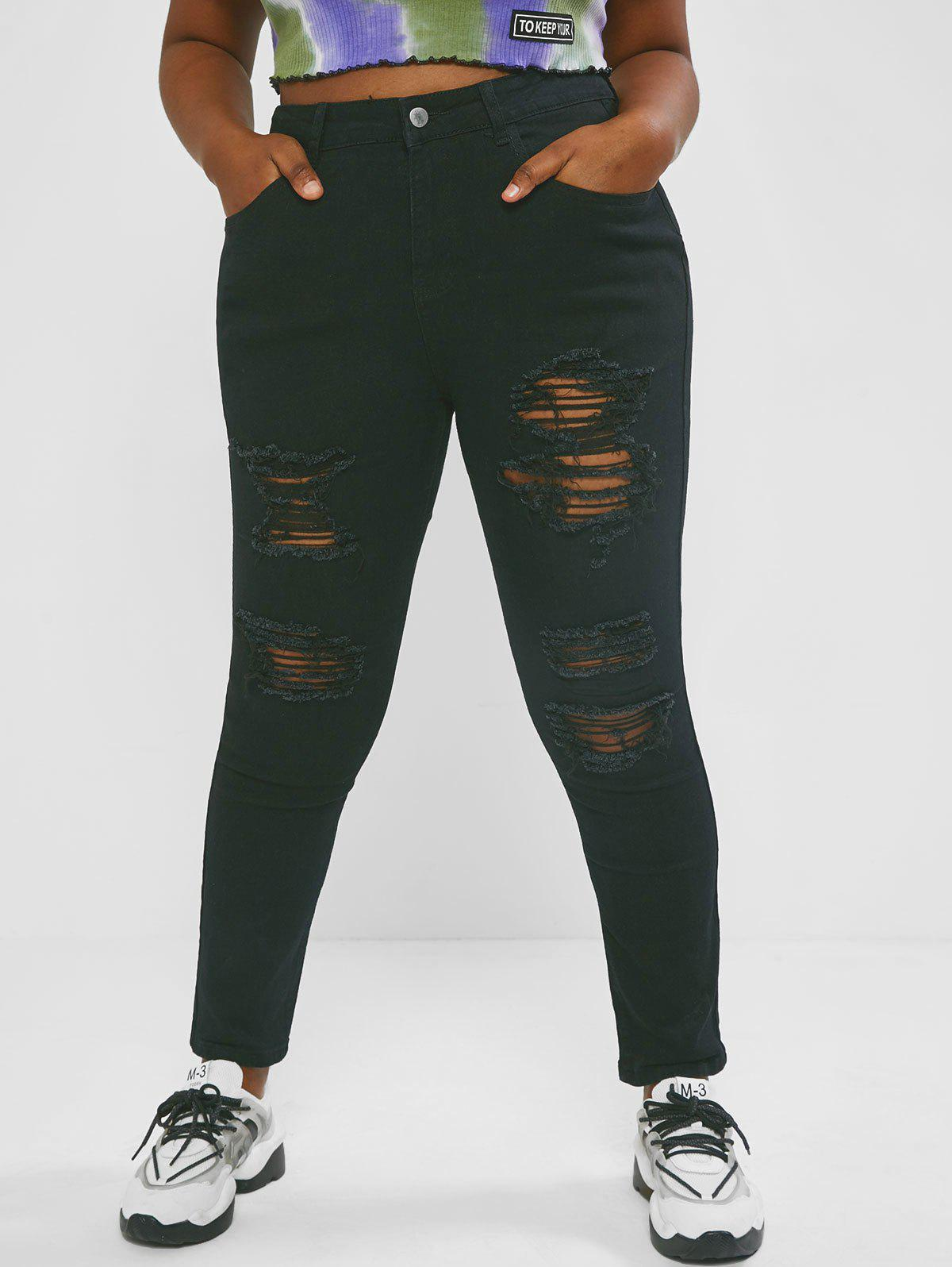 Online Plus Size Skinny-fit Ripped Jeans