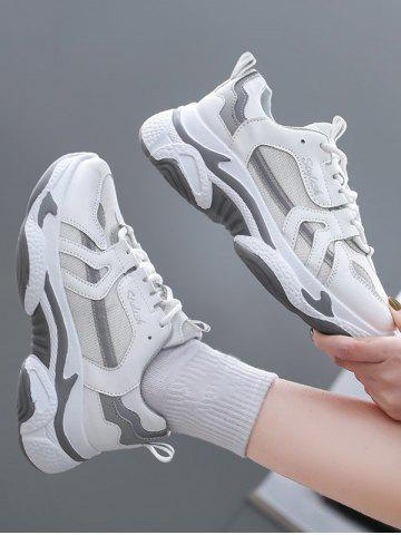 Mesh Insert Colorblock Clunky Sneakers