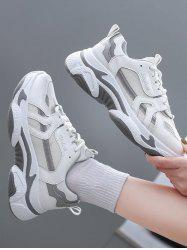 Mesh Insert Colorblock Clunky Sneakers -