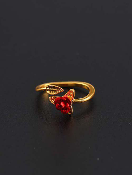 Outfit Rose Leaf Adjustable Cuff Ring