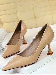Minimalist Pointed Toe Solid High Heel Shoes -