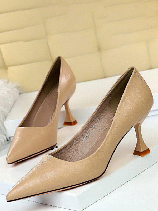 Trendy Minimalist Pointed Toe Solid High Heel Shoes