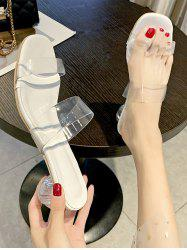 Square Toe Clear Vamp Sandals -