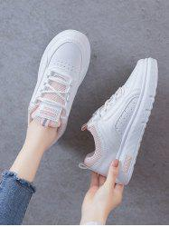 Lace-Up Breathable Flat Sneakers -