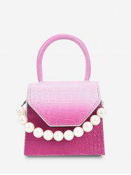 Ombre Embossed Faux Pearl Mini Crossbody Bag -