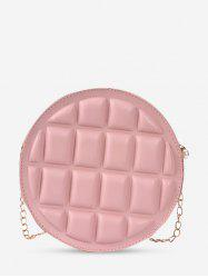 Quilted Round Chain Crossbody Bag -