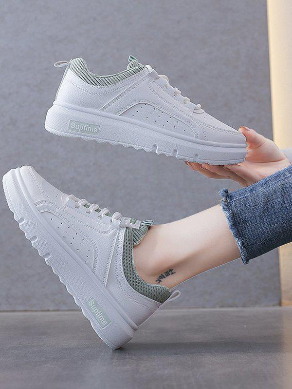 Buy Lace-Up Breathable Flat Sneakers