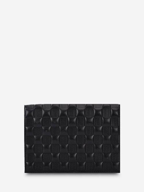Fashion Solid Checked Textured Chain Crossbody Bag