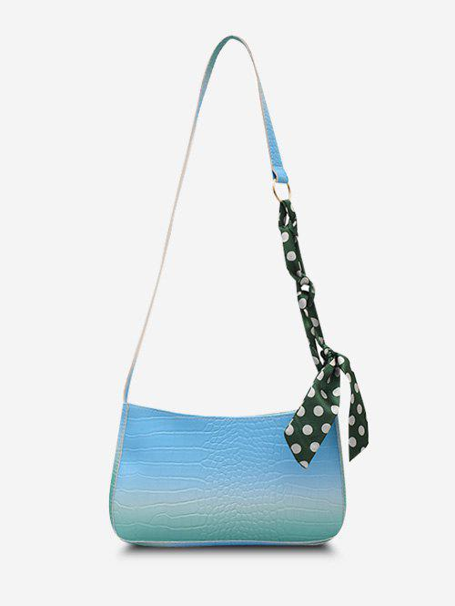 Best Scarf-Wrapped Embossed Ombre Crossbody Bag