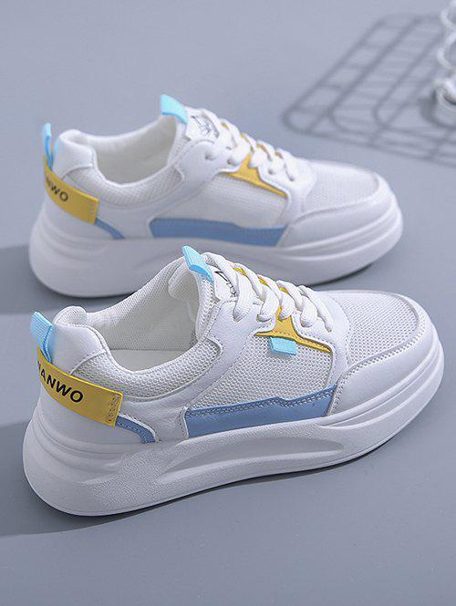 Fashion Colorblock Lace-Up Mesh Sneakers