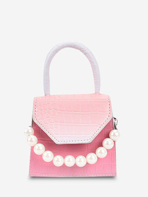 Latest Ombre Embossed Faux Pearl Mini Crossbody Bag