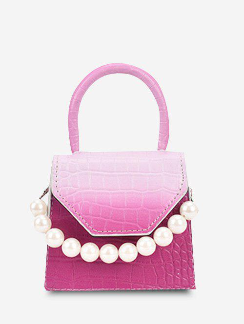 Affordable Ombre Embossed Faux Pearl Mini Crossbody Bag
