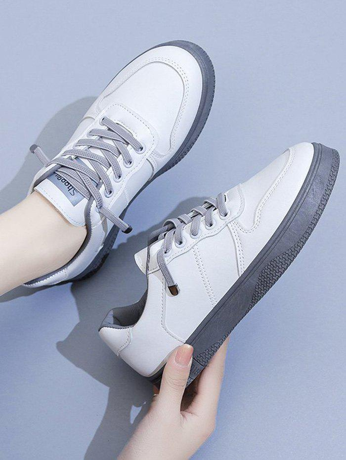Latest Lace Up Two Tone Sports Sneakers