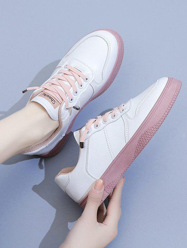 Online Lace Up Two Tone Sports Sneakers