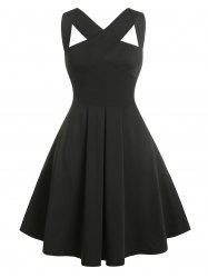 Vintage Sleeveless Cutout Fit and Flare Dress -