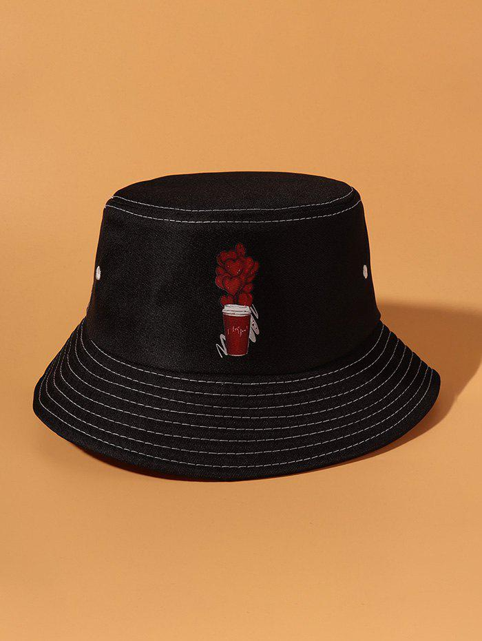 Outfits Hearts Cup Pattern Bucket Hat